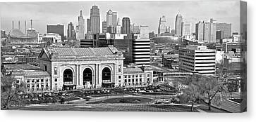 Monochrome Kc Pano Canvas Print by Frozen in Time Fine Art Photography