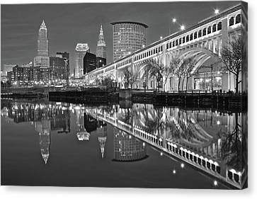 Monochrome Reflection Canvas Print by Frozen in Time Fine Art Photography