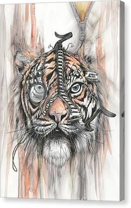 Monocle Eye Of The Tiger Canvas Print
