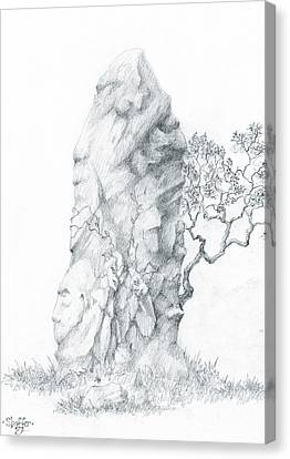 Canvas Print featuring the drawing Monolith 2 by Curtiss Shaffer