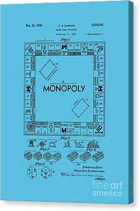 Monopoly Original Patent Art Drawing T-shirt Canvas Print by Edward Fielding