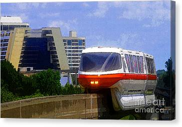 Monorail Canvas Print - Monorail by David Lee Thompson