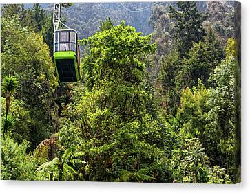 Monserrate Aerial Tramway View Canvas Print by Jess Kraft