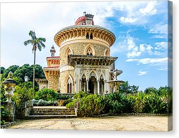Canvas Print featuring the photograph Monserrate Palace by Marion McCristall