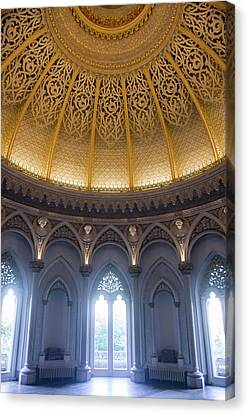 Canvas Print featuring the photograph Monserrate Palace Room by Carlos Caetano