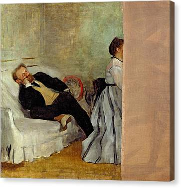 Monsieur And Madame Edouard Canvas Print by MotionAge Designs