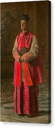Monsignor James P. Turner Canvas Print by Thomas Eakins