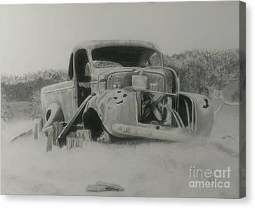 Monsildale Truck Canvas Print by Robyn Garnet