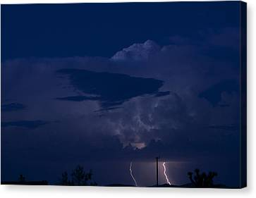 Monsoon Cloud And Lightening 20 Canvas Print