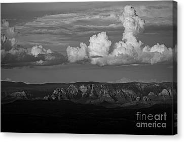 Canvas Print featuring the photograph Monsoon Clouds Over Sedona by Ron Chilston