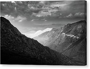 Canvas Print featuring the photograph Monsoon Clouds Over Storm Canyon by Alexander Kunz