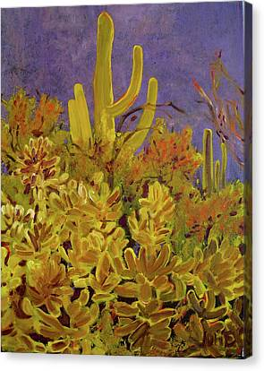 Canvas Print featuring the painting Monsoon Glow by Julie Todd-Cundiff