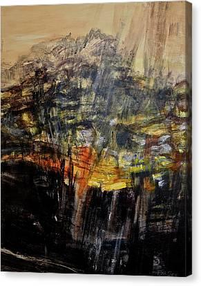Monsoon Light Triptych - Right Panel Canvas Print