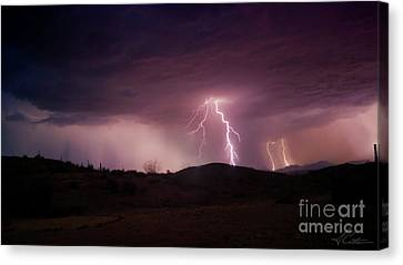 Canvas Print featuring the photograph Monsoon Lightning by Anthony Citro