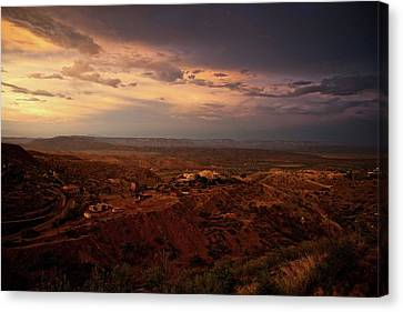 Canvas Print featuring the photograph Monsoon Storm Afterglow by Ron Chilston