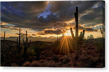 Canvas Print featuring the photograph Monsoon Sunburst by Anthony Citro