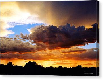 Monsoon Sunset Canvas Print by David Coyle