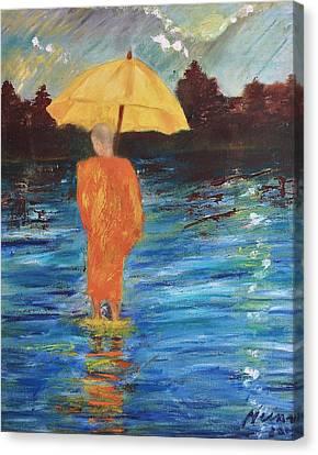 Monsoon Walk Canvas Print by Neena Alapatt