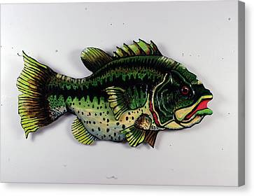 Monster Bass Canvas Print by Bob Crawford