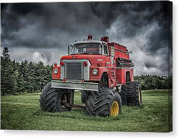 Canvas Print featuring the photograph Monster Fire Truck by Guy Whiteley