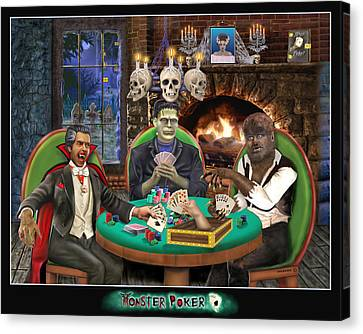 Monster Poker Canvas Print by Glenn Holbrook