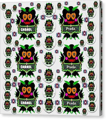 Monster Trolls In Fashion Shorts Chanel Versa Prada Canvas Print by Pepita Selles