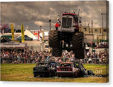 Monster Truck Destruction  Canvas Print by Rob Hawkins