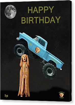 Monster Truck The Scream World Tour Happy Birthday Canvas Print