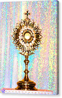 Monstrance Canvas Print by Anne Cameron Cutri