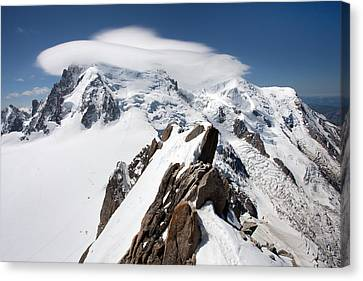 Mont Blanc And Ufo Canvas Print