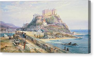 Mont Orgueil Castle Canvas Print by Richard Principal Leitch