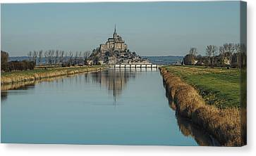 Canvas Print featuring the photograph Mont-saint-michel France by Cendrine Marrouat