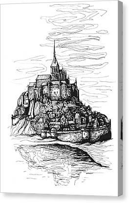 Mont-saint-michel Canvas Print by Katerina Kopaeva
