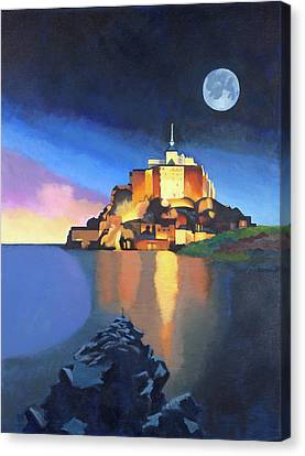 Mont Saint-michel Canvas Print