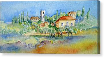 Montacatini Alto Canvas Print by Trudi Doyle