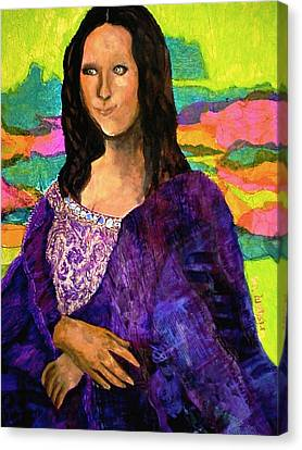 Canvas Print featuring the painting Montage Mona Lisa by Laura  Grisham