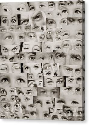 Montage Of Eyes, C.1960s Canvas Print by H. Armstrong Roberts/ClassicStock