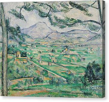Montagne Sainte Victoire Canvas Print by Paul Cezanne