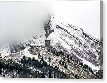 Montain Range Snow Covered Canvas Print