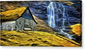 Montains Home - Da Canvas Print by Leonardo Digenio