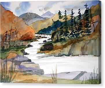 Montana Canyon Canvas Print by Larry Hamilton