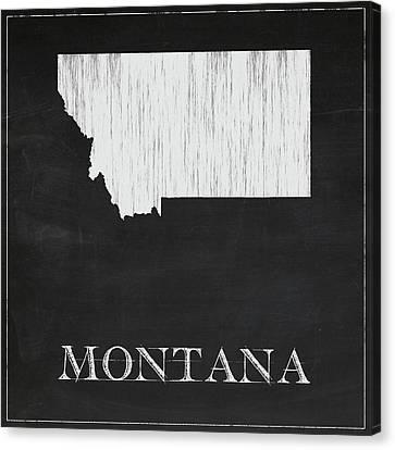 Montana - Chalk Canvas Print