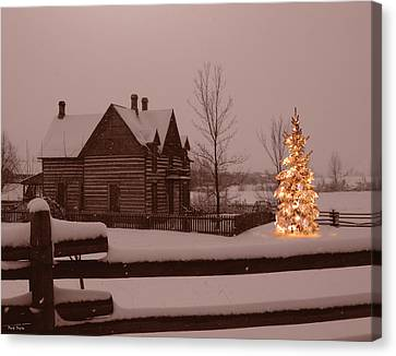 Montana Christmas Canvas Print by Paul Porto