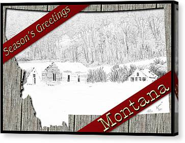 Montana Christmas Canvas Print