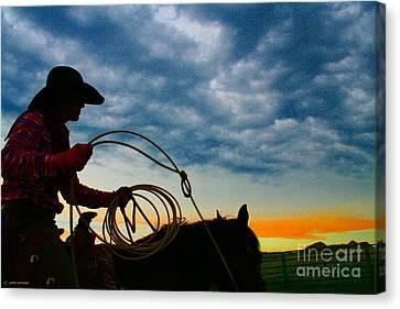 Giselaschneider Canvas Print - Montana Cowgirl ... Montana Art Photo by GiselaSchneider MontanaArtist