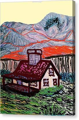 Montana Homesteader  Canvas Print