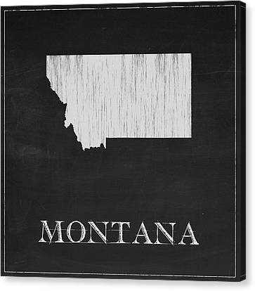 Montana Map Canvas Print by Finlay McNevin