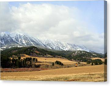 Canvas Print featuring the photograph Montana Mountains by Lynn Bawden