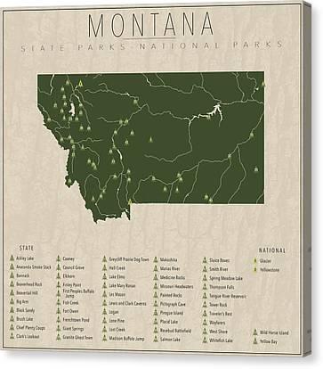 Montana Parks Canvas Print