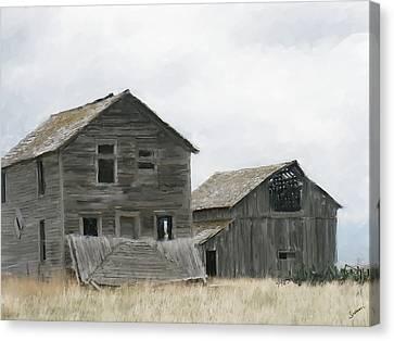 Montana Past Canvas Print by Susan Kinney